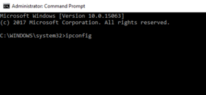 ipconfid commond prompt open router settings