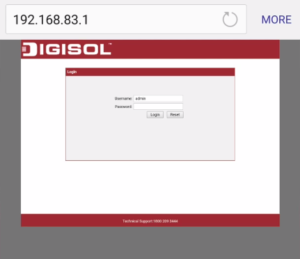 digisol username and password block internet users on smartphone